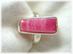 Rhodochrosite ~ Spring Dogwood Pink Sterling Silver Handcrafted Ring - FREE SHIPPING