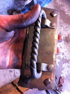 Hand forged handle pull in progress!  Available at www.cjforge.net