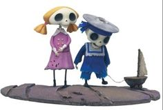 "2005 Mcfarlane 4"" Skeleton Boy & Girl Corpse Bride Figure Series 1 Tim Burton 