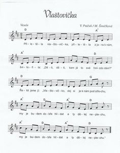 Vlaštovička Piano, Sheet Music, Songs, Kids, Young Children, Boys, Children, Music Score, Kid