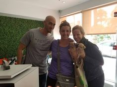 Congrats to two new puppy parents that attended Kaplan Chiropractic Wellness Center's Cyro Experience Event Benefiting Jamie's Rescue.  #weloveourclients #smm #socialmedia #marketing