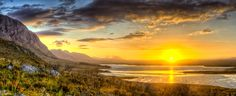 Sunrise between Standford and Hermanus, South Africa, HDR Panorama Sunrise, Lights, Celestial, Explore, Mountains, Nature, Travel, Outdoor, Outdoors