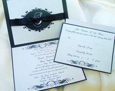 Stardream Metallic Crystal wedding invitation.
