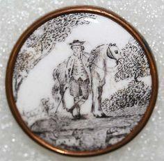 British Enamel Button  Date:   ca. 1770  Culture: British  Medium:  enamel
