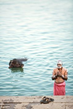 Prayers on the Ganges, Varanasi , India