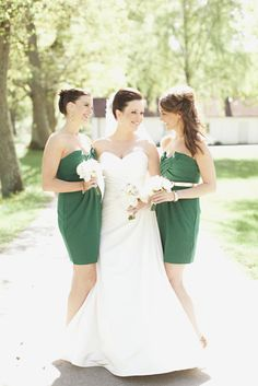 crisp green and white color palette