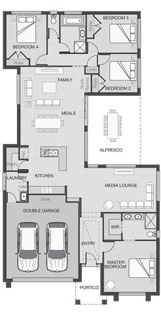 House Plan might make the 2 bedrooms together into one  guest/library/office/craft room