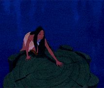 """I love how all of the animals just flock to her side, like, """"Holy crap, a Disney Princess is coming! Everyone, get into position!"""" Pocahontas gif"""