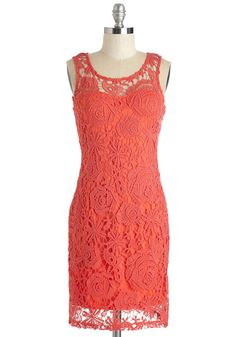 Glam Getaway Dress. Whether escaping to an exotic island or your favorite local haunt, youll completely charm the place in this vibrant coral dress. #red #modcloth