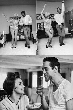 Paul Newman and Joanne Woodward - cutest ♥