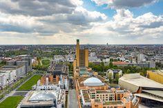 Berlin's parliament voted to pull out of fossil fuels. Potsdamer Platz, Building Exterior, Travel Destinations, Travel Tourism, Urban Landscape, San Francisco Skyline, Paris Skyline, Skyscraper, Berlin