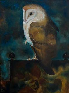Mijn uiltje geschilderd naar Jan Mankes.
