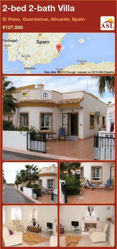2-bed 2-bath Villa in El Raso, Guardamar, Alicante, Spain ►€127,500 #PropertyForSaleInSpain