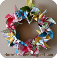 Pinwheel Wreath Tutorial