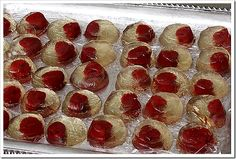 Champagne and fresh raspberry jello shots. Plus a great NYE spread without having a sit down dinner