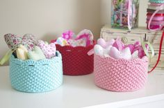 Crochet Baskets Heart Craft Room