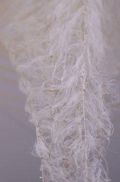 Akane Yorita, Gently Appearing Form, hemp, rayon threads, 400x350x300cm, 2014 (detail)