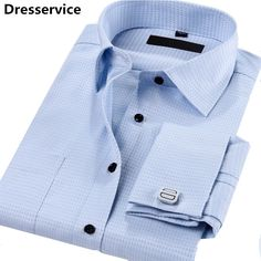 2016 New Men French Cuff Shirt Long Sleeve Lapel DP Casual Male Shirt Slim Fit Dress Shirts For Chemise Homme Camisa Masculina