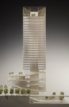 Skidmore Owings & Merrill La Defence, Paris Millenium Models is part of Tower design - Mix Use Building, Tower Building, High Rise Building, Building Design, Office Building Architecture, Concept Architecture, Interior Architecture, Classical Architecture, Tower Models