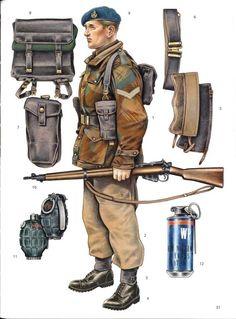 F:Royal Marine Commando comporal at Suez,November British Royal Marines, British Army Uniform, British Uniforms, Ww2 Uniforms, British Armed Forces, British Soldier, Military Uniforms, Royal Marines Uniform, Military Outfits