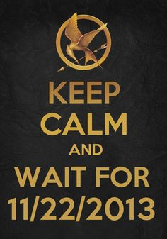 Keep Calm and Wait For 11/22/2013. #CatchingFire