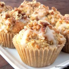 Low Carb Maple Bacon Pecan Muffins taste like a breakfast at your favorite pancake house. The coconut butter maple glaze is perfect with the candied pecans. Low Carb Sweets, Low Carb Desserts, Low Carb Recipes, Bacon Muffins, Pancakes And Bacon, Pancake Muffins, Low Carb Flour, Low Carb Bread, Diabetic Snacks