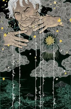 Gratitude 360 -  Old Man Winter finally bringing us some rain! - Artwork by Yuko Shimizu