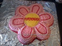 Cool Homemade Flower Cake Using the Wilton Cake Pan... This website is the Pinterest of birthday cake ideas