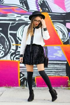 20 Ways to Wear Knee High Socks | StyleCaster#_a5y_p=2889389#_a5y_p=2889389