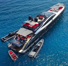Yacht renting will make it significantly increasingly exceptional. In this article, we are going to give you a couple of tips that can enable you to rent a decent yacht. Super Yachts, Speed Boats, Power Boats, Billionaire Lifestyle, Yacht Boat, Sailing Yachts, Yacht Design, Boat Design, Red Interiors