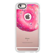 Pink Glaze Donut - iPhone 6s Case,iPhone 6 Case,iPhone 6s Plus... ($40) ❤ liked on Polyvore featuring accessories, tech accessories, iphone case, iphone cover case, apple iphone cases, iphone cases, iphone hard case and clear iphone cases