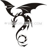 "dragon clip art | Note: preview image contains watermark ""© Vector-Arts.com"" not ..."