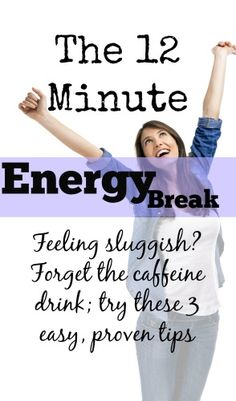 Feeling run down? Here are three simple, proven tips to increase your energy. Plus, you can do them all in 12 minutes! What great news for weary moms everywhere :) Health And Beauty, Health And Wellness, Health Tips, Health Fitness, Wellness Tips, Mental Health, Energy Boosters, Energy Level, How To Increase Energy