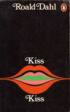 Penguin Book - Kiss Kiss. Designed and illustrated by Omnific. #BookArt
