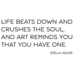 Thank God for art...