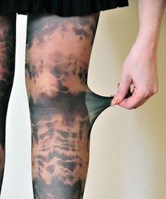 How to dye stockings great for Zombies Great for our Halloween  Huanted House!!