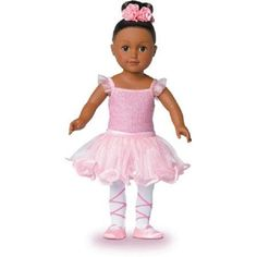Ballerina Doll African American Girl Poseable 18 Inch With Soft Torso Ballet Fun #MyLife
