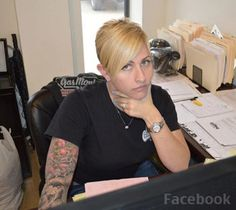 Christie Brimberry from Fast N Loud her hair ROCKS!! More
