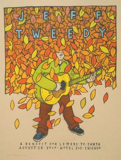 Jeff Tweedy Chicago concert poster by Jay Ryan