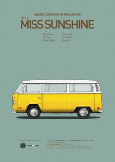 Cars and Films illustrations by Jesús Prudencio 8 little miss sunshine movie poster Little Miss Sunshine, Famous Movie Cars, Iconic Movies, Famous Movie Posters, Cult Movies, Popular Movies, Great Films, Good Movies, Love Movie