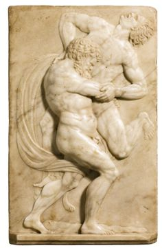 Florence 16th cen. Hercules lifting Antaeus.