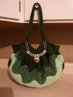 #Crochet Chevron Purse Bag Handbag #TUTORIAL