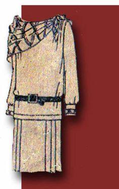 1920s Original Charming Unused Girls Flapper Dress Kerchief Pattern | eBay