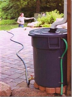 DIY Garden Projects Anyone Can Make DIY Rain Barrel - You won't have to feel guilty about using fresh water to water your garden anymore!DIY Rain Barrel - You won't have to feel guilty about using fresh water to water your garden anymore! Organic Gardening, Gardening Tips, Flower Gardening, Vegetable Gardening, Water Catchment, Rain Catchment System, Rain Collection, Water Collection System, Rain Garden