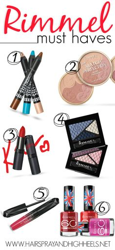 Best Rimmel Products via www.hairsprayandhighheels.com