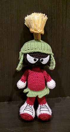 My brother was mentioning how he loves Marvin the Martian, so I decided to make him one! It was a huge hit. He loves it!