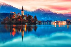Visit Lake Bled in Slovenia.