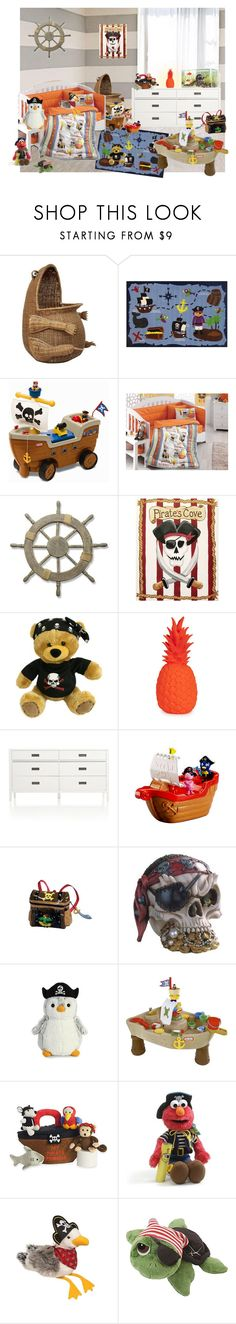 """""""pirate's life for me"""" by sterlingkitten on Polyvore featuring interior, interiors, interior design, home, home decor, interior decorating, WALL, Steiff, Fun Rugs and Adeco"""