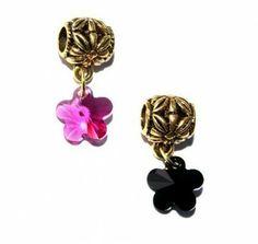 Zawieszka Modułowa Charms Kwiatek Swarovski Crystallized Flower. 11 Kolorów #Swarovski #jewelry #bizuteria