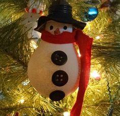 Schneemann aus Glühlampe